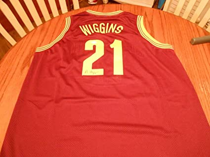 detailed look 0ff1c d0b2f Andrew Wiggins Autographed Signed Cleveland Cavs.Custom Pro ...
