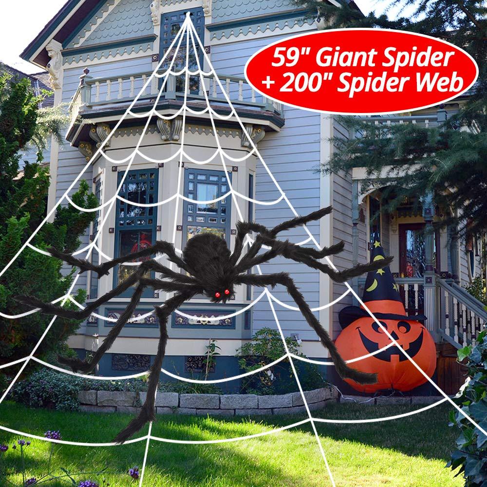 """OCATO 200"""" Halloween Spider Web + 59"""" Giant"""