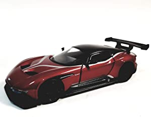 Kinsmart. Candy Apple Red Aston Martin 2016 Sports Edition Vulcan 1/38 O Scale Diecast Car
