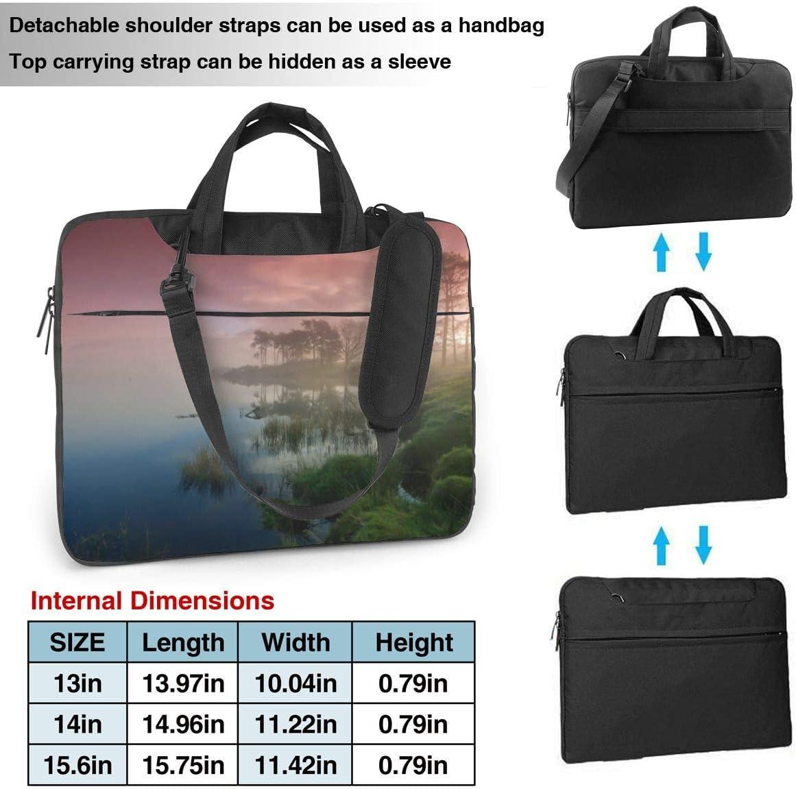 Laptop Shoulder Bag 13 Inch Red Fog Briefcase Protective Bag