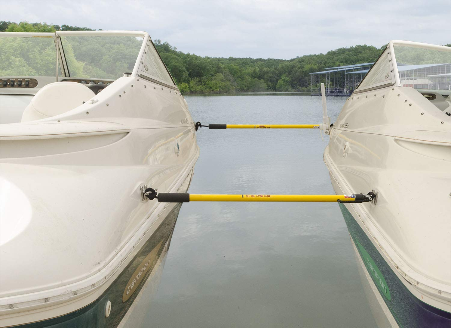 Rite-Hite Boat Tie Up - 2 Pack in White or Yellow, Tie Up Without Having to Get Out of The Boat (Yellow, 15) by RITE-HITE