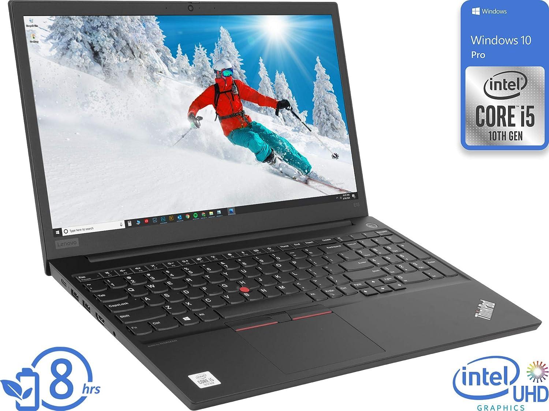 "Lenovo ThinkPad E15 (20RD005GUS) Laptop, 15.6"" FHD Display, Intel Core i5-10210U Upto 4.2GHz, 8GB RAM, 1TB HDD, HDMI, DIsplayPort via USB-C, Wi-Fi, Bluetooth, Windows 10 Pro"