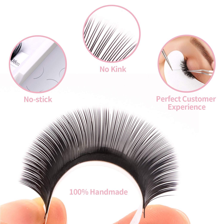 Amazon Lankiz Eyelash Extensions 015mm C Curl Mixed Tray