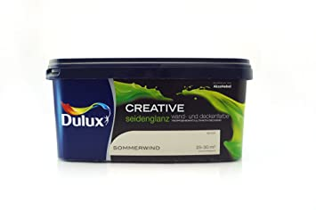 Dulux Creative Wand Und Deckenfarbe Seidenglanz 25 L Sommerwind