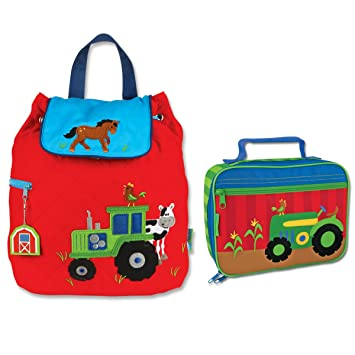 19070804ae91 Stephen Joseph Quilted Tractor Backpack and Lunch Box - Toddler Backpacks - Preschool  Backpacks  Amazon.co.uk  Sports   Outdoors