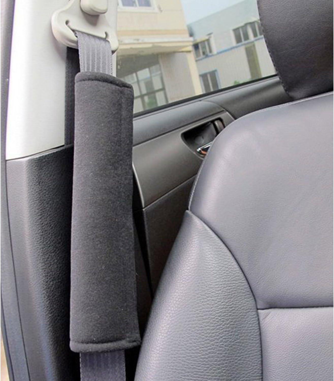 Vosarea Car Seatbelt Shoulder Strap Pads,Artificial Sheepskin Strap Cover for Comfortable DrivingCushion Pads Grey
