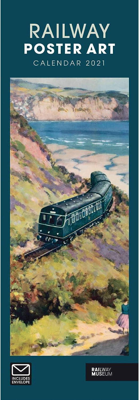 Railway Poster Art Slim Calendar 2021 Railway Museum