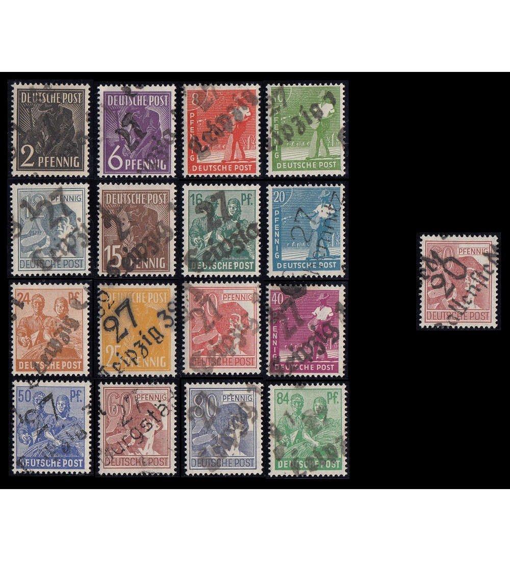 Goldhahn SBZ Nr. 166-181 mit Nr. 179 postfrisch , geprüft + signiert Briefmarken für Sammler