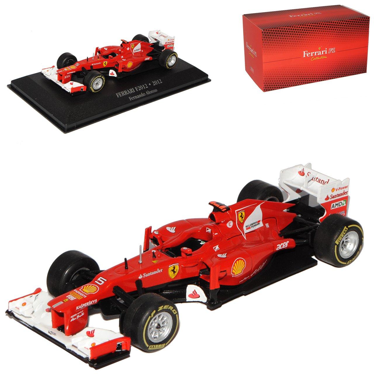Atlas Ferrari F2012 Fernando Alonso Vize Weltmeister 2012 Formel 1 1/43 Modell Auto mit individiuellem Wunschkennzeichen