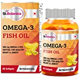 St.Botanica Omega 3 Fish Oil 1000mg (180EPA, 120 DHA) - 60 Softgels