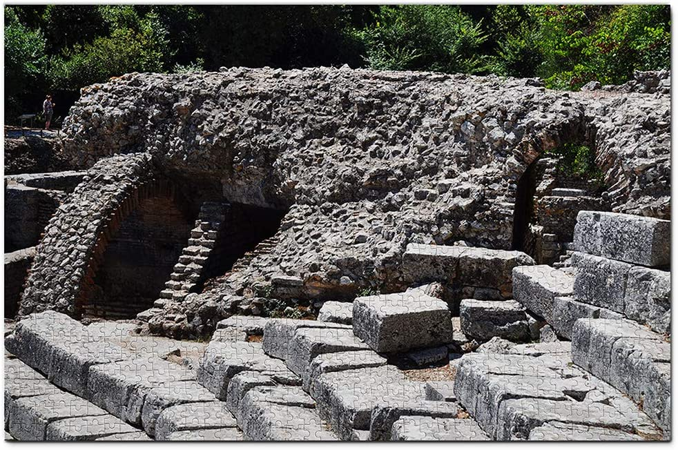 Parque Nacional Butrint Albania Puzzle 1000 Piezas para Adultos Familia Rompecabezas Recuerdo Turismo Regalo