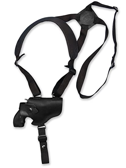 Amazon Com Barsony Black Leather Cross Harness Shoulder Holster