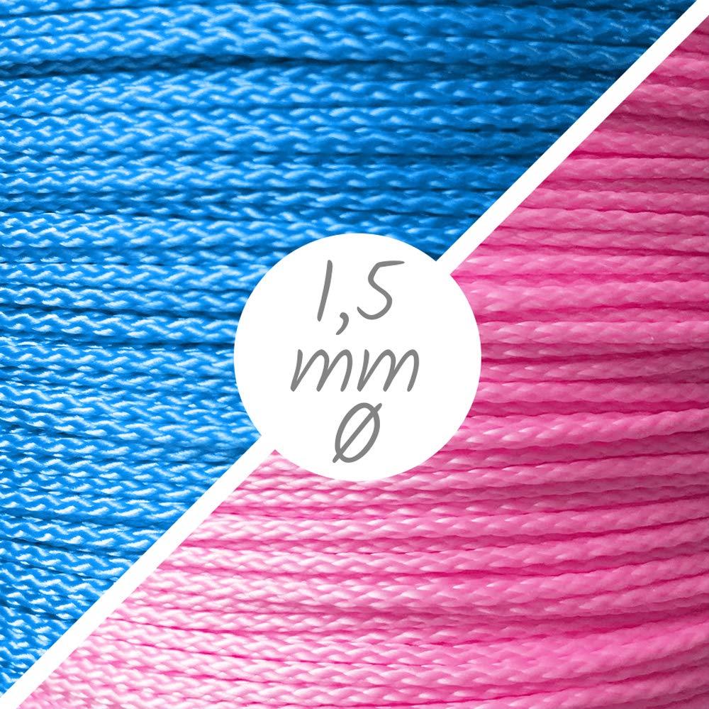 geflochten Baby Blau 10m Schnullerketten PP Schnur 1,5 mm /Ø
