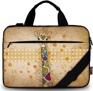 "iColor 11.6-12 13 13.3-inch Laptop Shoulder-Bag - Canvas Computer Tablet Carrying Case 13-13.3 inch Notebook Briefcase (12"" ~13.3"", Giraffe)"
