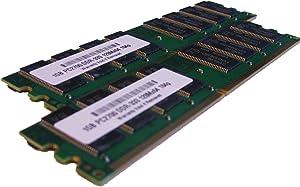parts-quick 2GB 2 X 1GB PC2700 333MHz 184 pin DDR SDRAM Non-ECC DIMM Desktop Memory RAM for Dell Dimension 4600 Brand