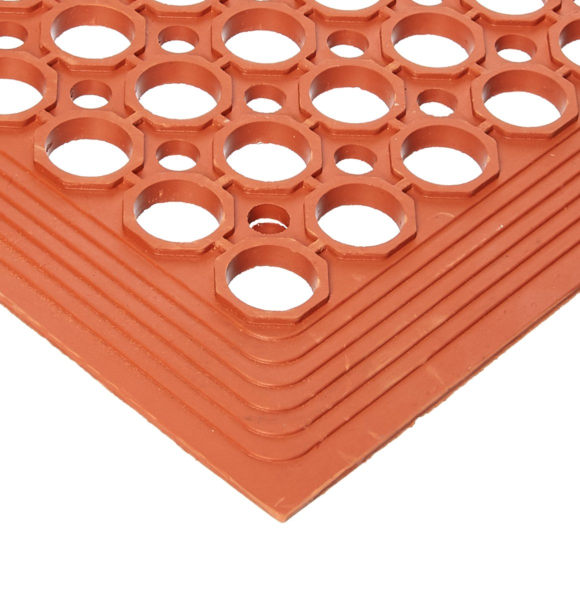 Winco RBM-35R Anti-Fatigue Floor Mat, 3-Feet by 5-Feet by 1/2-Inch, Grease-Resistant Red