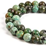 """Nancybeads Natural Gemstone Round Spacer Loose Beads for Jewelry Making 15.5"""" 1 Strand 6mm 8mm (African Turquoise, 8mm 45Beads)"""