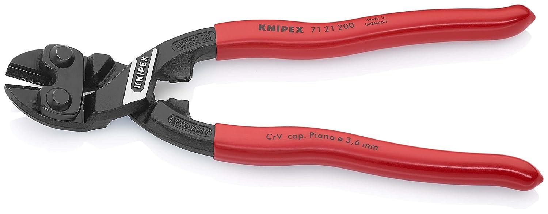 Knipex CoBolt  71 21 200 Coupe-boulons compact coud/é atramentis/é noir poign/ées plastifi/ées 200 mm