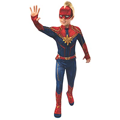Rubie's Marvel: Captain Marvel Child's Deluxe Light-Up Costume, Medium: Clothing