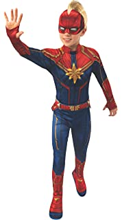 Amazon Com Girls Captain Marvel Hero Suit Deluxe Superhero Costume Toys Games The dark blue suit has printed armor details, making your child look like shersquos ready to stop any evildoerrsquos plan. girls captain marvel hero suit deluxe