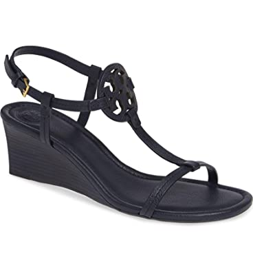 42bfab7d89f58b Tory Burch Miller Tumbled Leather Wedge Sandals