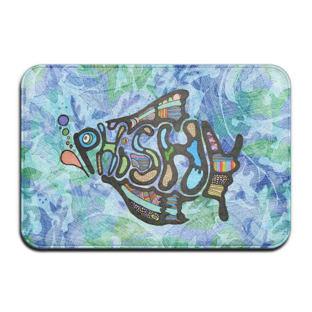 Phish Fish Rock Music Logo Non Slip Door Mat Indoor /Outdoor Door Mat (15.723.6 Inch)