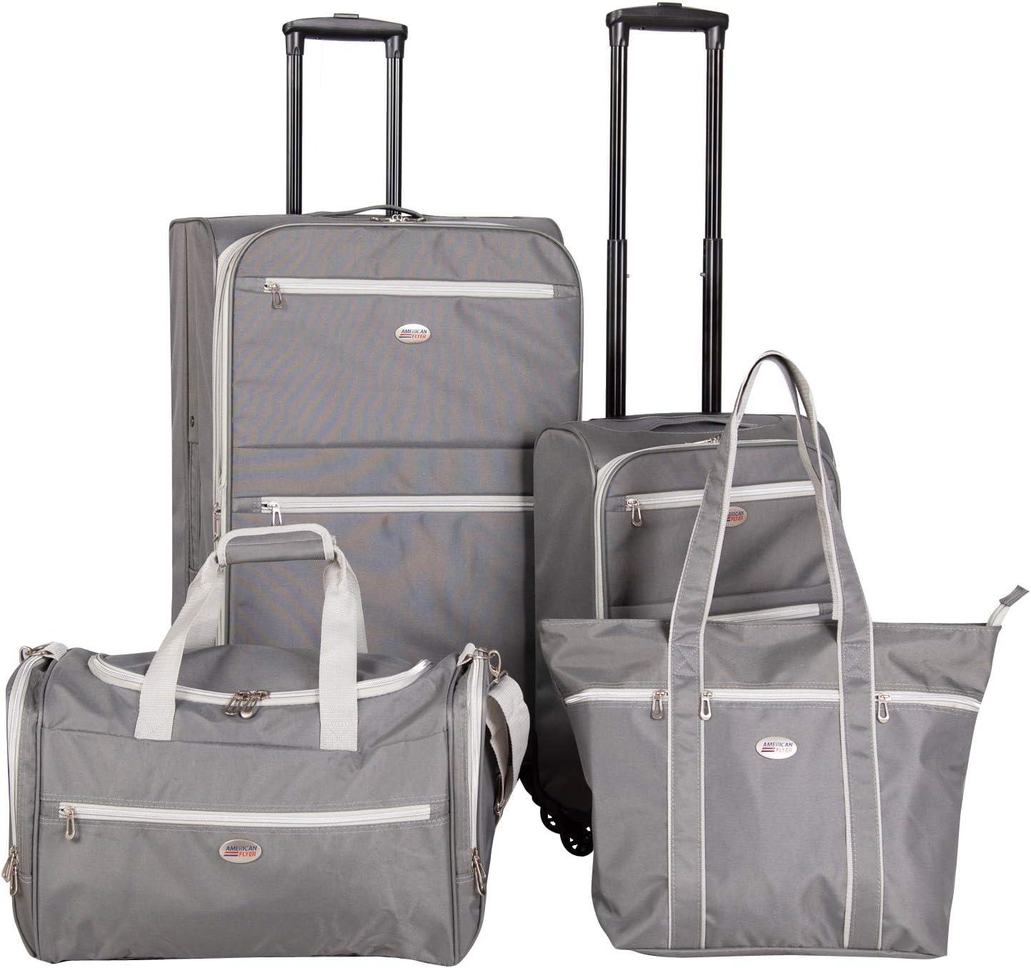 American Flyer Perfect 4-Piece Luggage Set, Grey