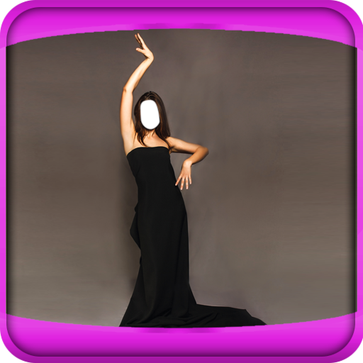 Women Long Dress Photo Montage -