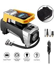 Compressore Portatile per Auto,Geker Compressore Aria Portatile 12V 150PSI Manometro Digitale con Luce d' Emergenza e LCD Adatto per Auto, Moto,Bicicletta ed Attrezzi Sportivi