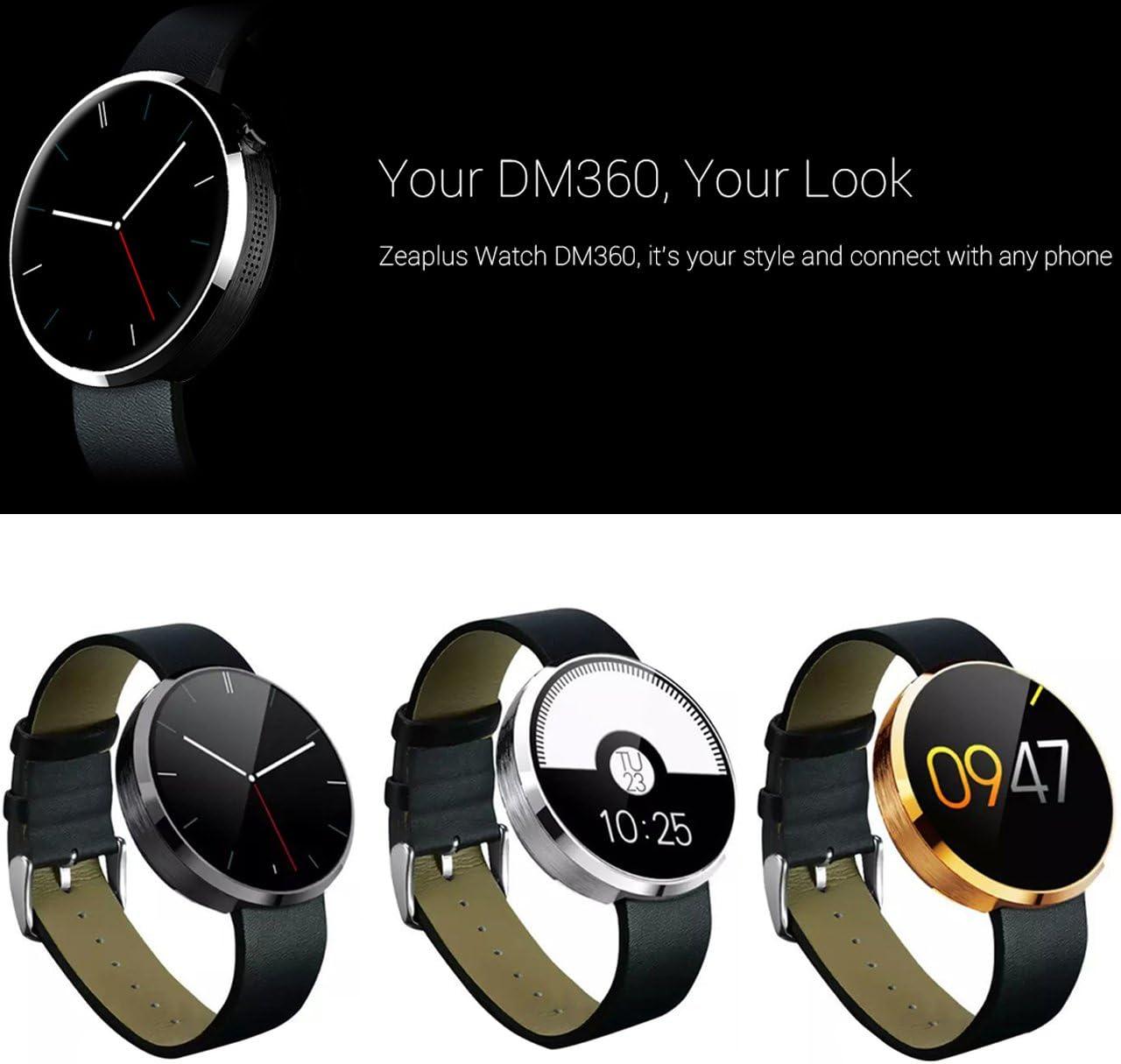 DM360 Zeaplus deportes reloj inteligente para iPhone iOS iPhone y ...