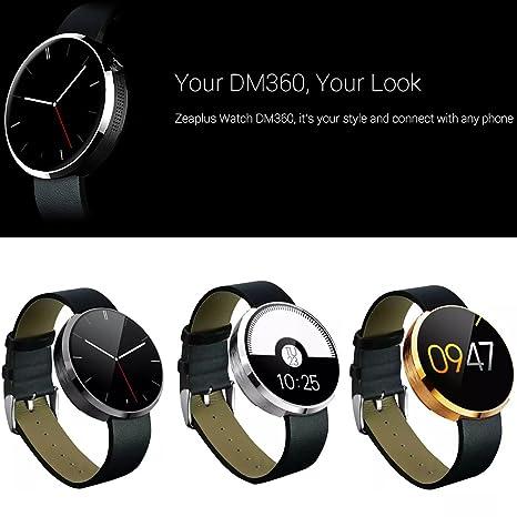 DM360 Zeaplus deportes reloj inteligente para iPhone iOS iPhone y Android Samsung HTC Sony LG Lenovo