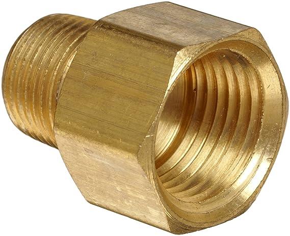 HONGLU Brass Pipe Fitting Adapter 3//8 Male Pipe x 1//2 Inch Female Pipe 2 Packs