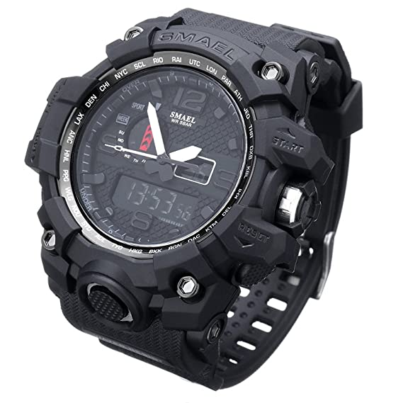 Watches Men's Watches Aggressive Skmei Brand Solar Energy 2 Time Zone Watch Waterproof 50 M Men Sports Watches Digital Multifunctional Military Wristwatches The Latest Fashion