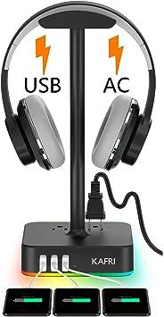 Amazon.com: Soporte para auriculares RGB con cargador USB ...