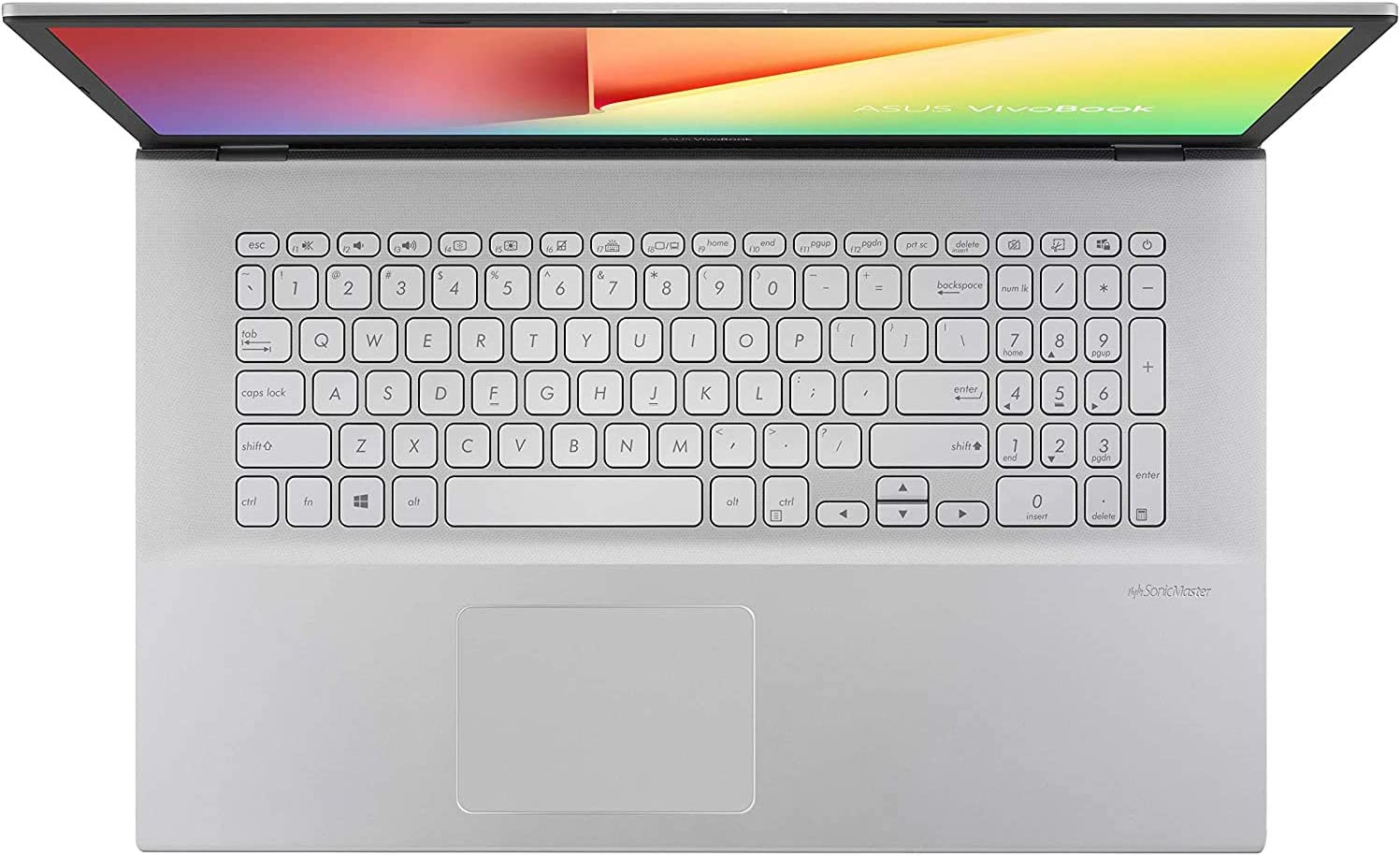 "ASUS Vivobook 17 Thin and Light Laptop 17.3"" FHD AMD Ryzen 3 3250U up to 3.50 GHz Radeon Vega 3 Graphics 12GB DDR4 RAM 256GB SSD Keypad USB-C HDMI Wi-Fi Mouse Win 10 QWERTY US Version"