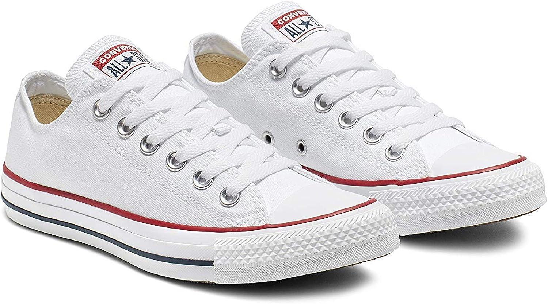 Converse Chuck Taylor All Star Season Ox Chaussures en tissu pour enfant Blanc Optical White