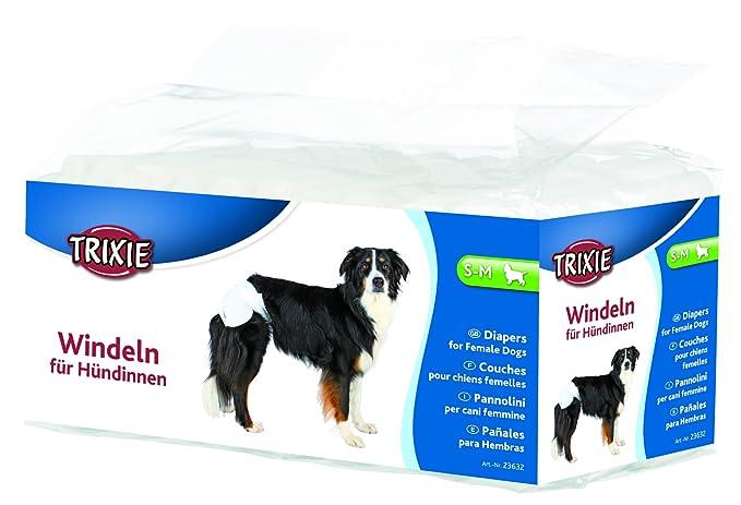 Trixie 23632 - Pañales para hembras, Circunferencia de cintura: 28-40 cm, S-M, 12 Unidades: Amazon.es: Productos para mascotas