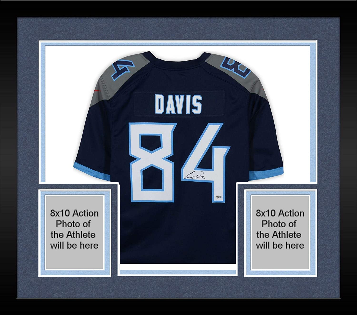 huge selection of 0941f a3f98 Framed Corey Davis Tennessee Titans Autographed Nike Navy ...