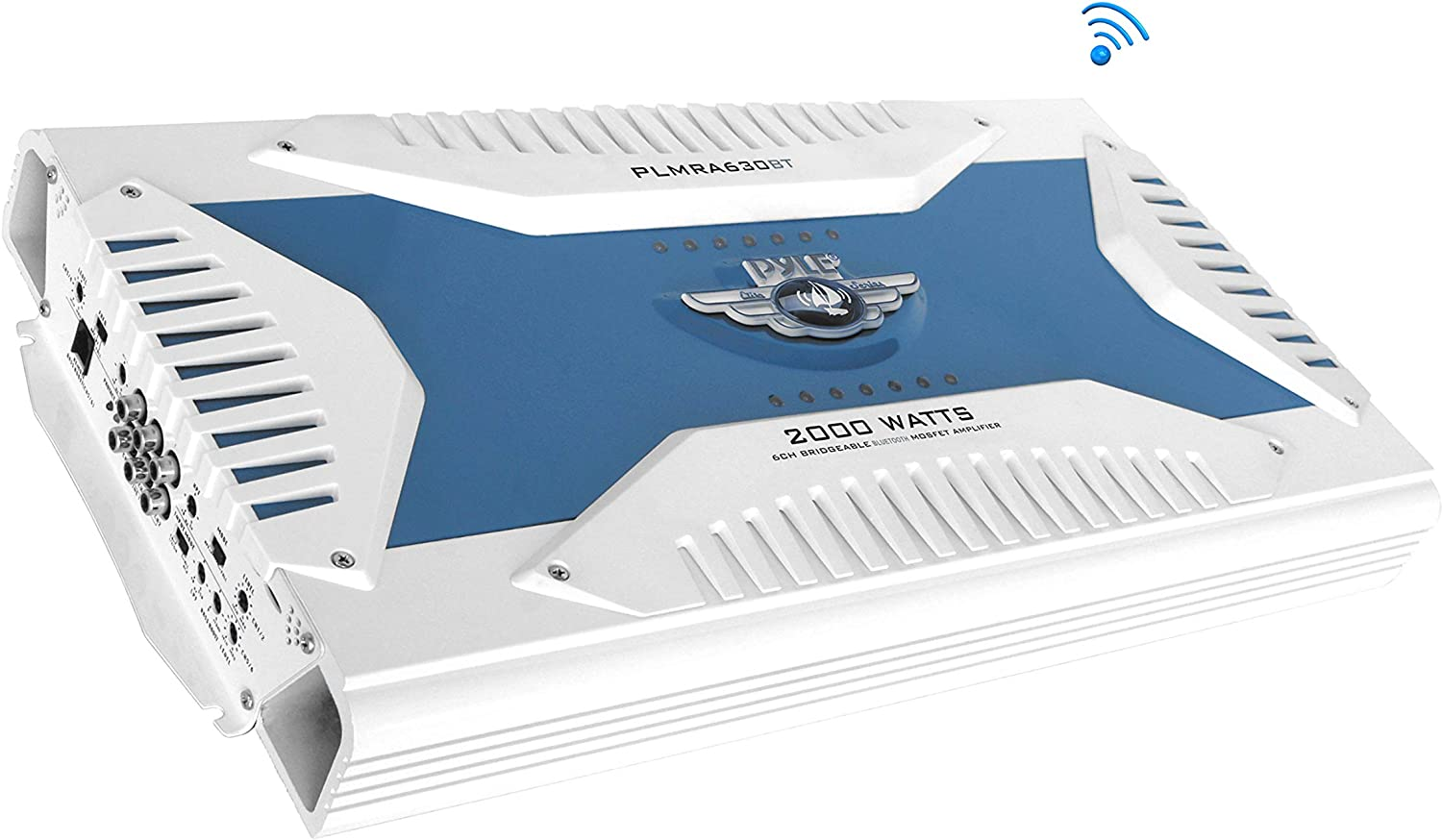 PLMRA830BT Marine Waterproof Bluetooth Amplifier Bridgeable 3000 Watt 8-Ch