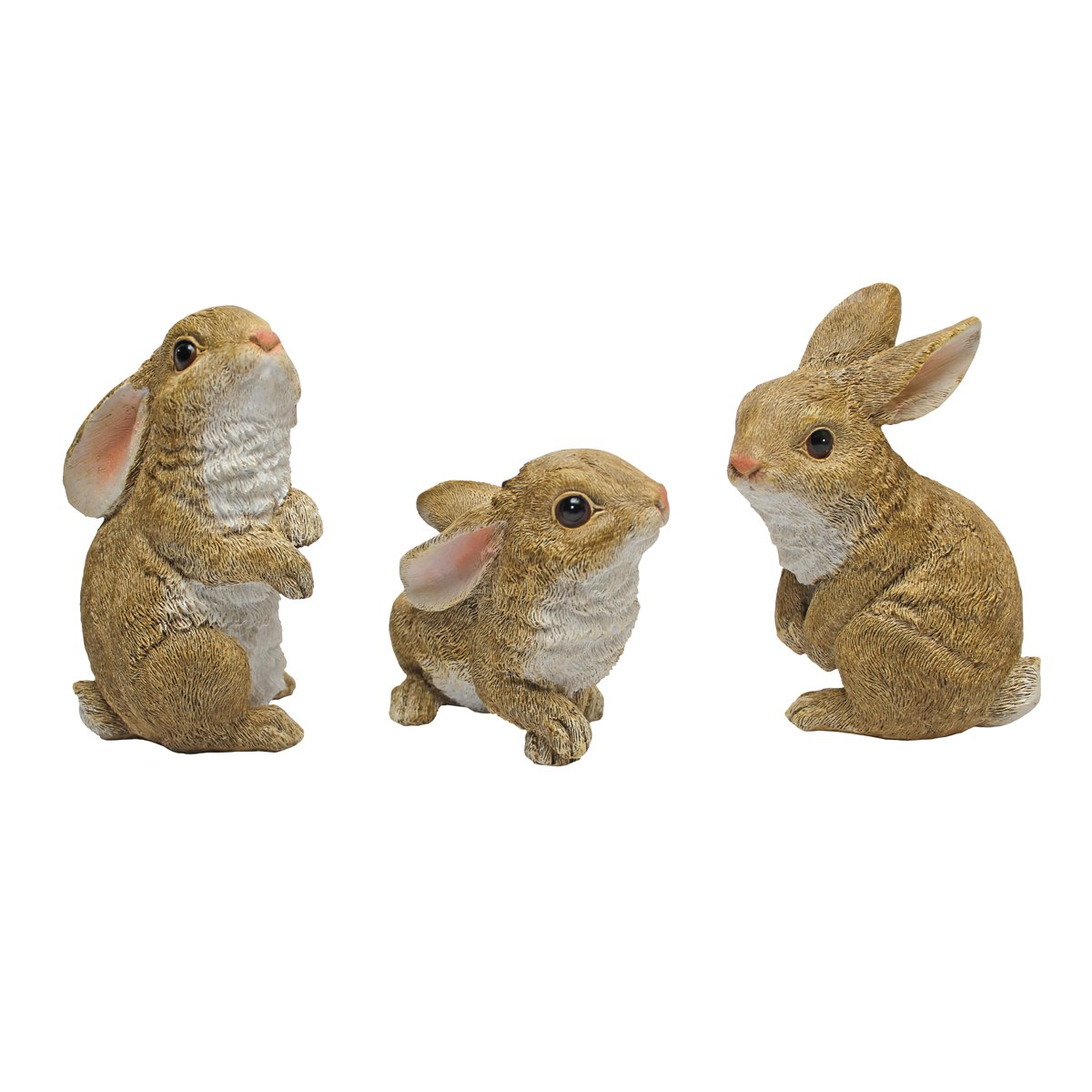 Amazon.com : Design Toscano The Bunny Den Garden Rabbit Statues,  Multicolored : Yard Art : Garden U0026 Outdoor