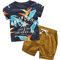 Fossen Ropa Niño Bebe 1-6 años Verano Conjuntos Dibujos Animados de cocodrilo Animal Camiseta Manga Corta y Pantalones…
