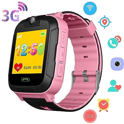Amazon.com: Reloj inteligente 3G para niños y niñas – GPS/Wi ...
