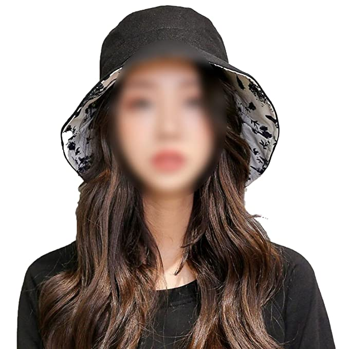 Lady Casual Double-Sided Fisherman Hat Fashion Flat top Visor Sun  Protection Cap a122973ab97