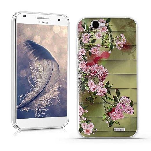 24 opinioni per Huawei Ascend G7 (L01 L03 C199) Cover, Fubaoda Lusso 3D Rilievo UltraSlim TPU