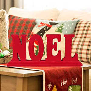 Noel Christmas Centerpiece Table Sign Decorations,13.43