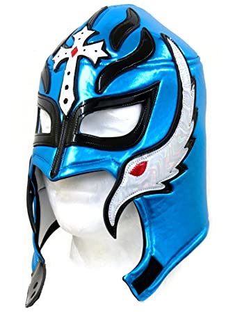 Rey Mysterio Adult Lucha Libre Wrestling Mask (Pro-style) Electric Blue