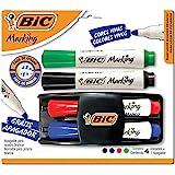 Kit 4 Marcadores de Quadro Branco + 1 Apagador, BIC, Marking
