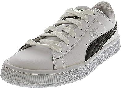 49da127c1c0e Puma Basket Classic LFS Jr Big Kid s Shoes Puma White Puma Black 364503-01