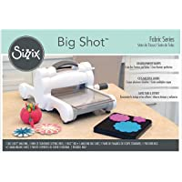 Sizzix Big Shot - Kit de iniciación de tela, color blanco y gris