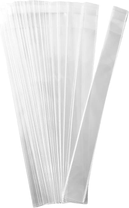 """200-2/"""" x 3/"""" CRYSTAL CLEAR FLAT CELLO BAGS"""